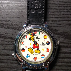 1980s Lorus Musical Mickey Mouse Watch w/ Flags